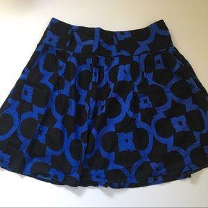 Black and Blue Skater Skirt- Twenty One